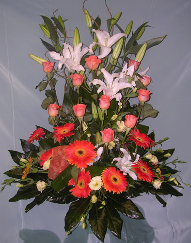Flores zaragoza edelweiss centros naturales adornos - Centros de rosas naturales ...